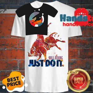 The Pretty Bull Riding Just Do It Nike V-Neck