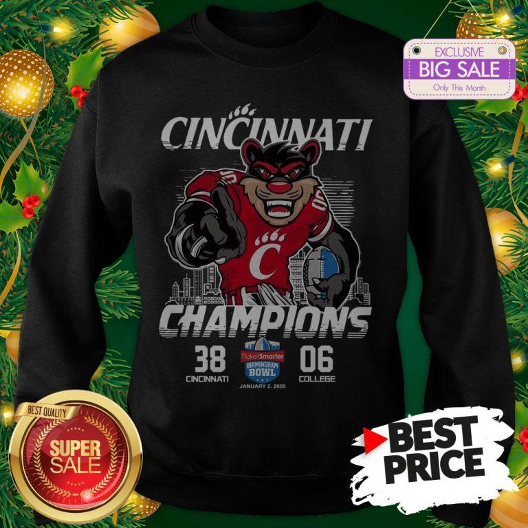 Vintage Cincinnati Bearcats Champions TicketSmarter Birmingham Bowl Sweatshirt
