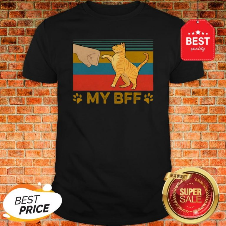 Official My BFF Paw Cat Vintage Shirt