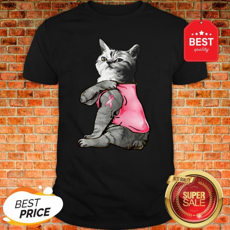Strong Cat Paws For The Cure Breast Cancer Awareness Shirt