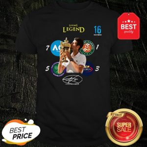 Novak Djokovic Living Legend 16 Grand Slam Signature Shirt