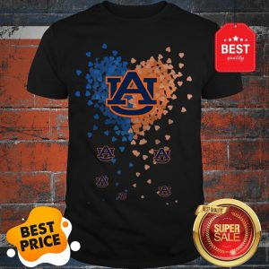 Official Love Auburn Tigers Tiny Hearts Shape Shirt