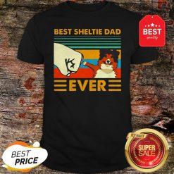 Official Best Sheltie Dad Ever Vintage Shirt