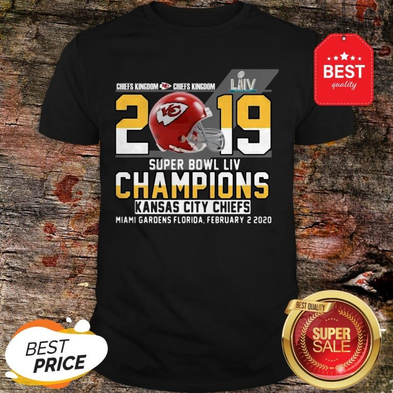 Official Chiefs Kingdom 2019 Super Bowl Liv Champions Kansas City Chiefs Shirt
