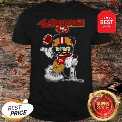 Official Disney Mickey Mouse San Francisco 49ers Super Bowl LIV Shirt