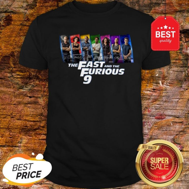 Official All Character Signatures The Fast And The Furious 9 Shirt