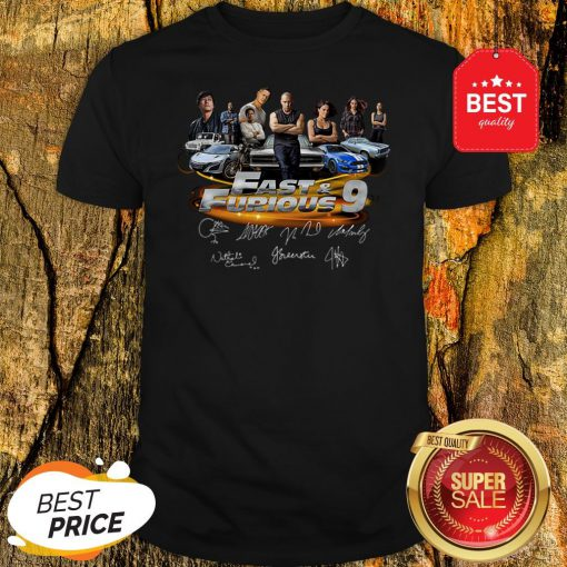 Official All character Fast And Furious 9 Signatures Shirt