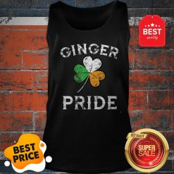 Awesome Ginger Pride St Patricks Day Irish Flag Clover Tank Top