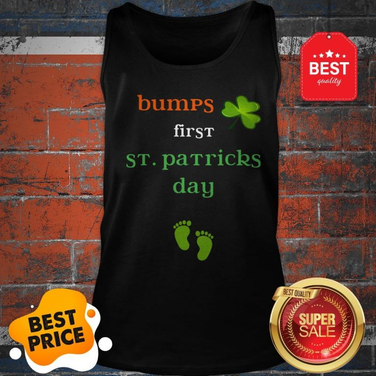 Baby's First St Patricks Day Pregnancy Announcement Tee Tank Top