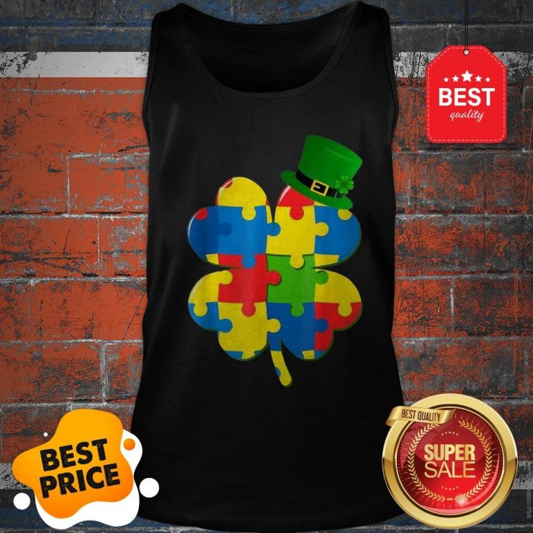 Official Autism St Patricks Day Tank Top