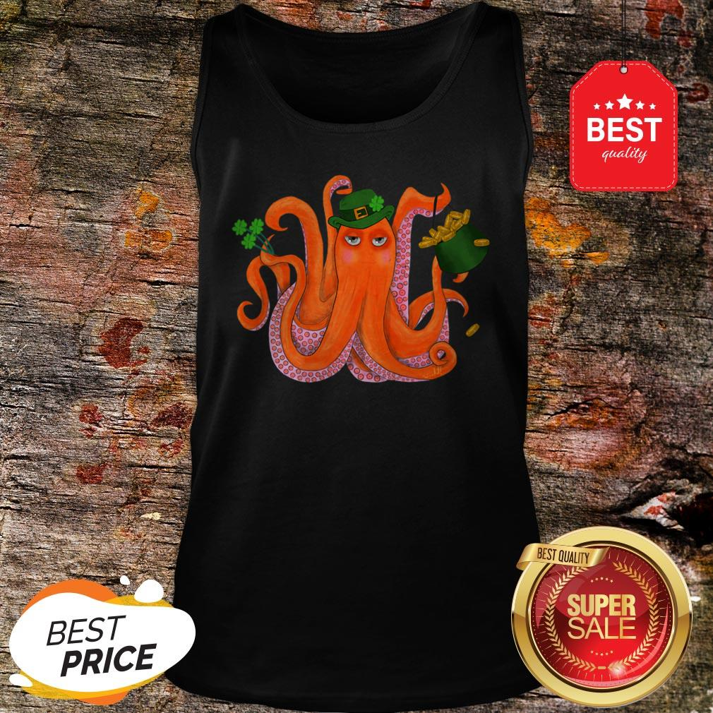 Official Funny Irish Octopus St Patrick's Day Tank Top