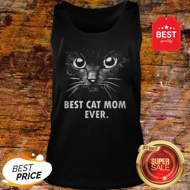 Official Best Cat Mom Ever Tank Top