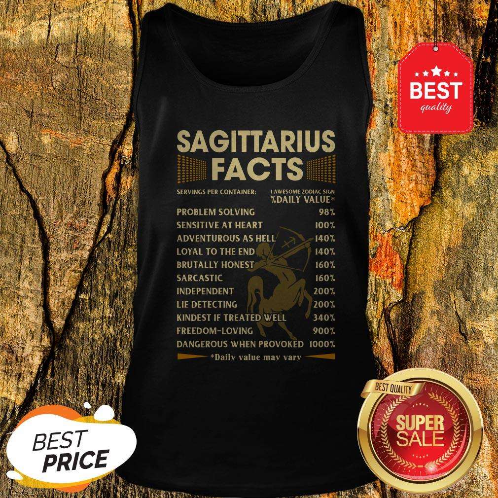 Official Sagittarius Facts Serving Per Container Daily Value Tank Top