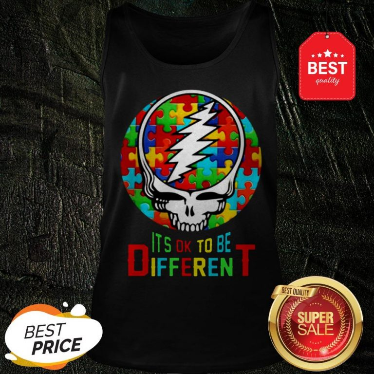 Official Autism Grateful Dead Logo It's Ok To Be Different Tank Top
