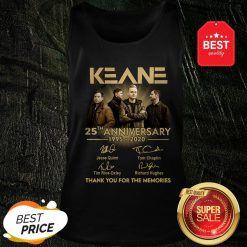 Keane 25th Anniversary 1995-2020 Signatures Thank You For The Memories Tank Top
