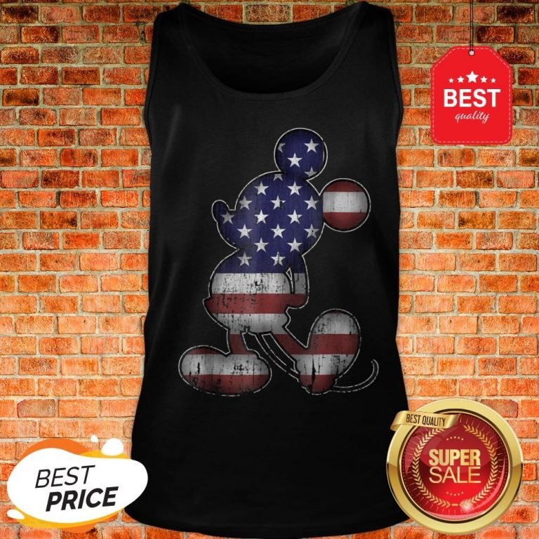 Official Disney Americana 4th Of July Mickey Mouse Tank Top