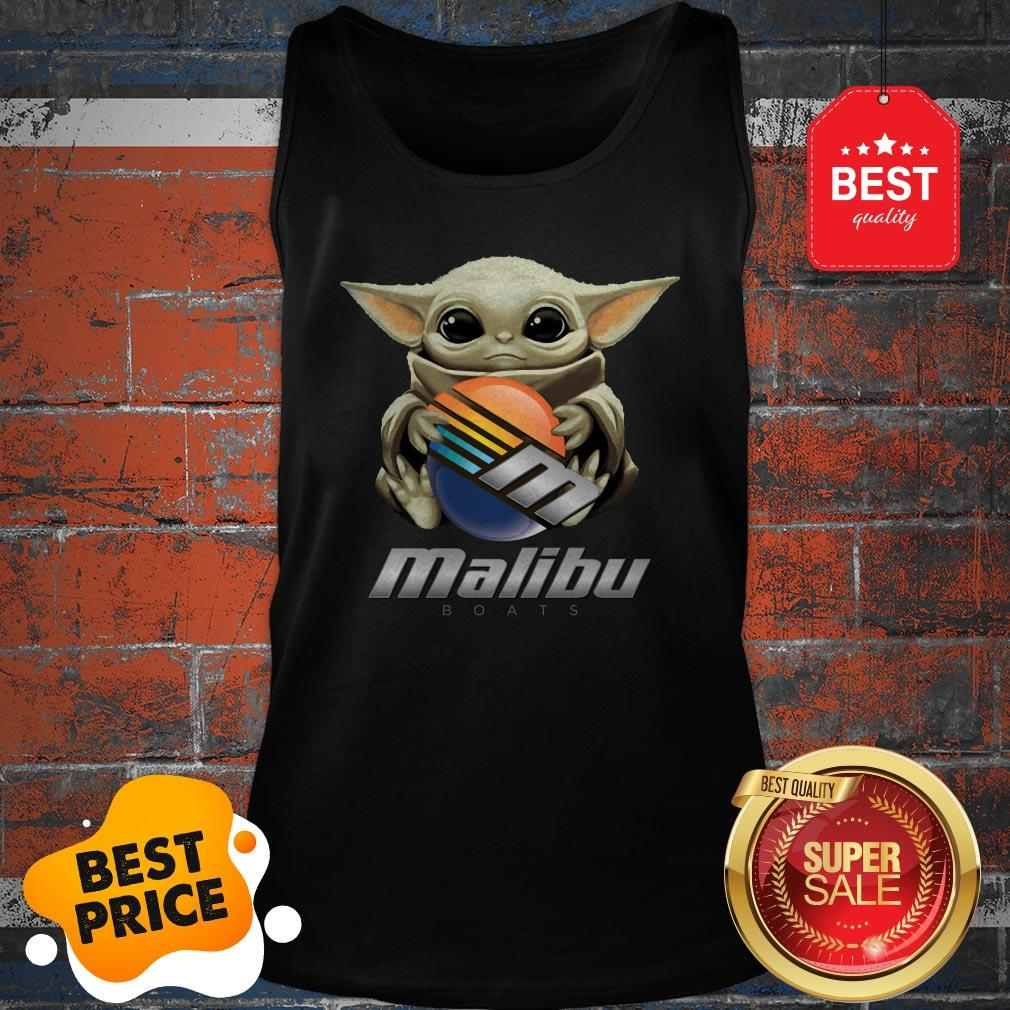 Official Baby Yoda Hug Malibu Boats Star Wars Tank Top
