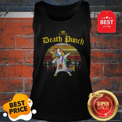 Official Dabbing Unicorn Five Finger Death Punch Vintage Tank Top