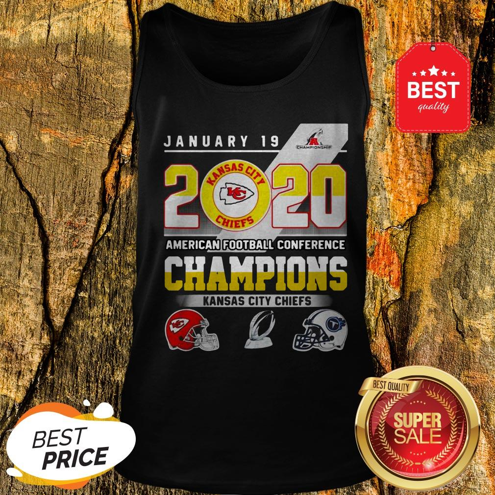 January 19 2020 American Football Conference Champions Kansas City Chiefs Tank Top