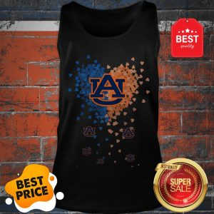 Official Love Auburn Tigers Tiny Hearts Shape Tank Top