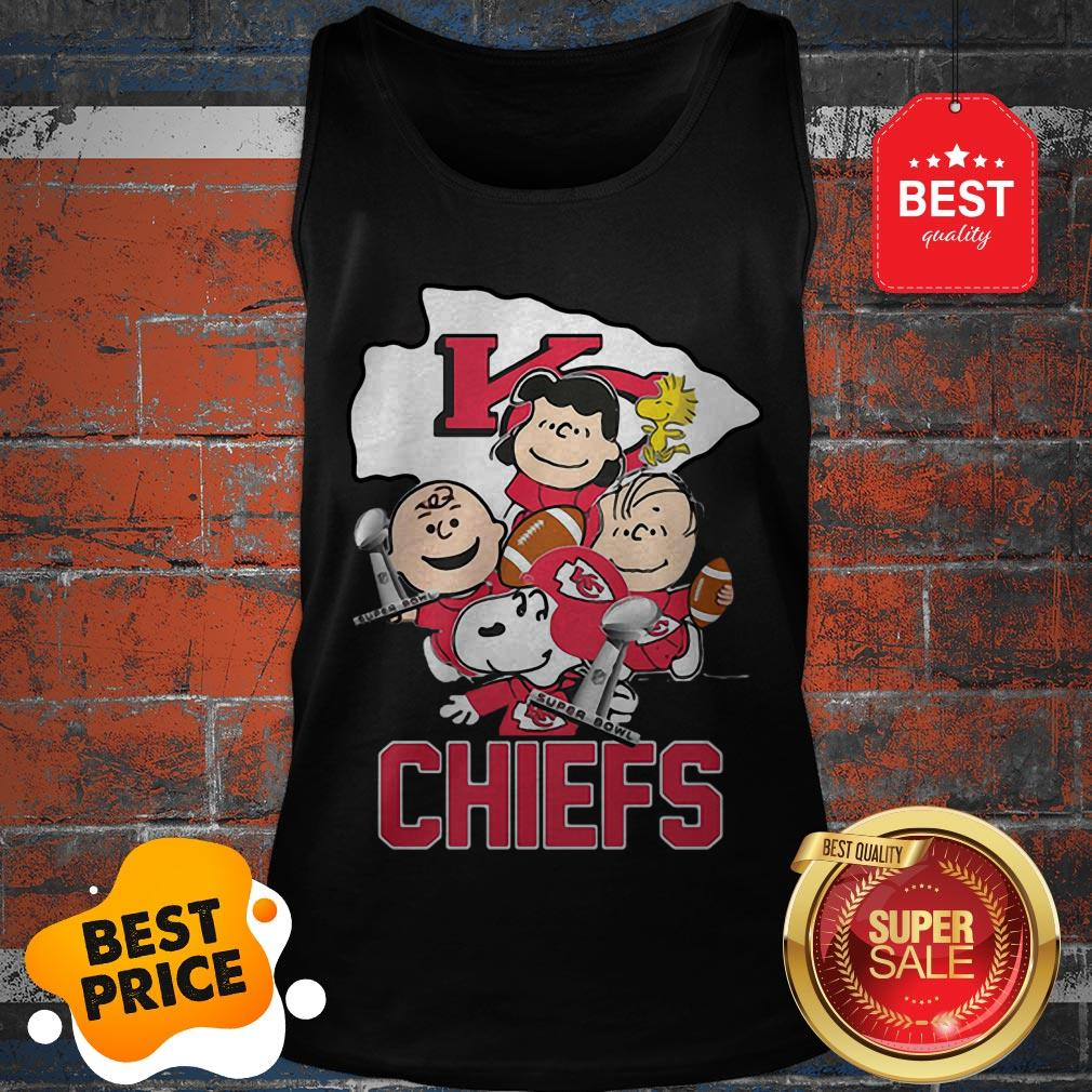 Official Snoopy Kansas City Chiefs Champion Peanuts Characters Tank Top