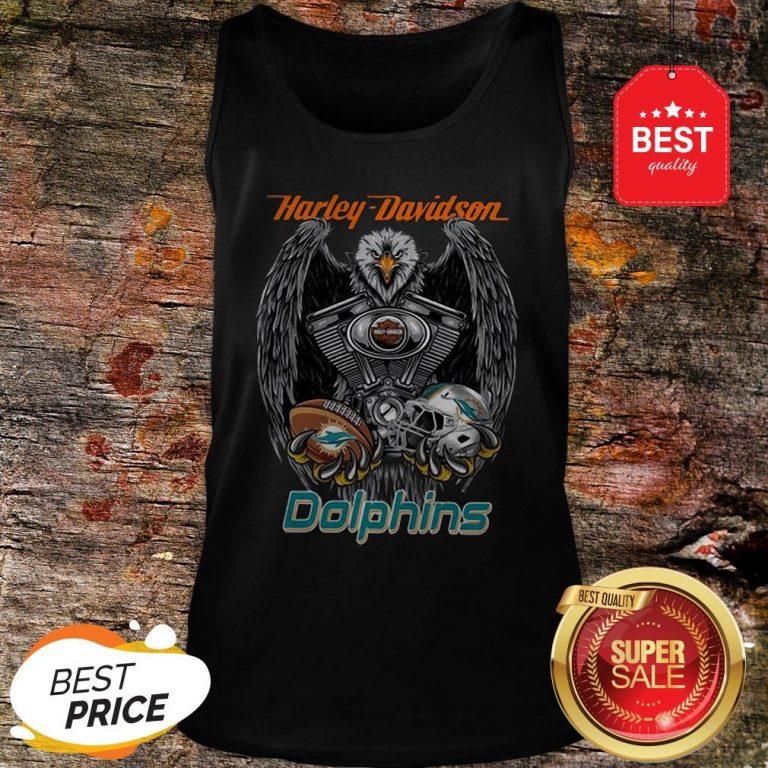 Official Harley Davidson Mashup Miami Dolphins Tank Top
