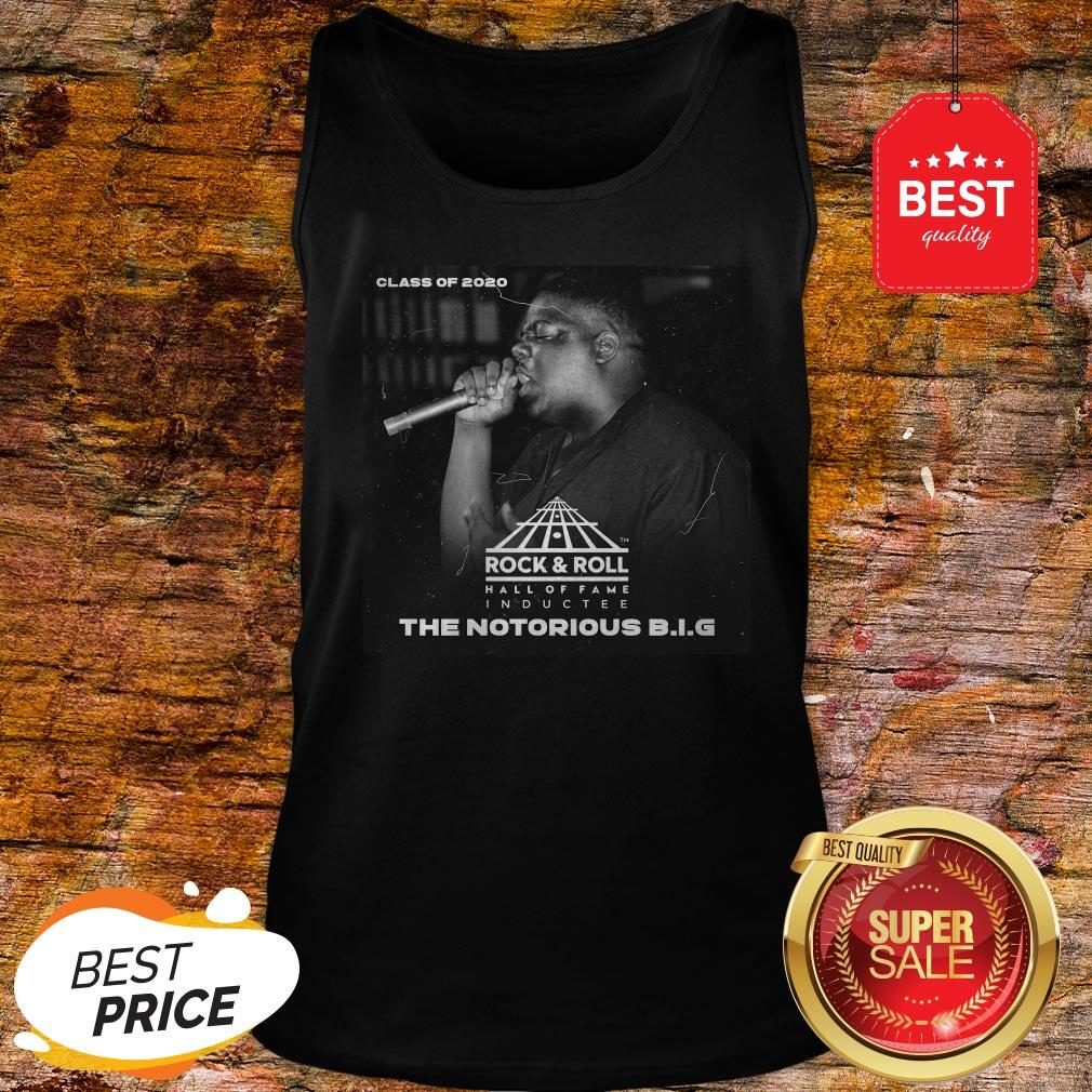 Official Class Of 2020 Rock & Roll Hall Of Fame The Notorious B.I.G Tank Top