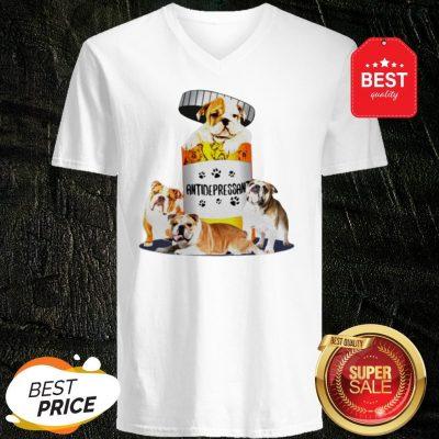 Official English Bulldog Antidepressant V-Neck