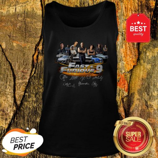 Official All character Fast And Furious 9 Signatures Tank Top