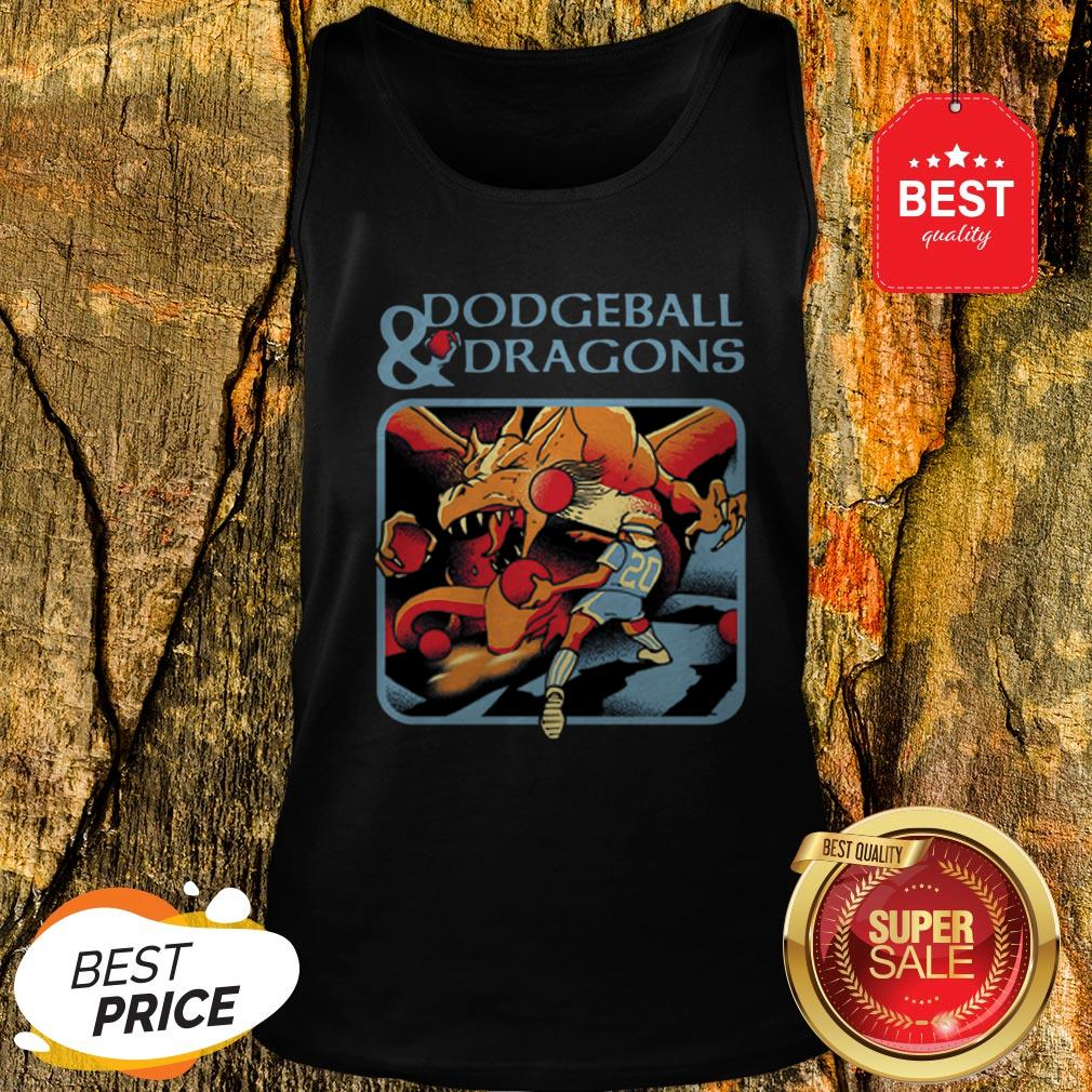 Official Dodgeball And Dragons Dungeons And Dragons Tank Top