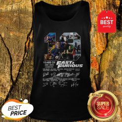 Official Fast And Furious 19 Years Of 2001 2020 10 Movies Signatures Tank Top