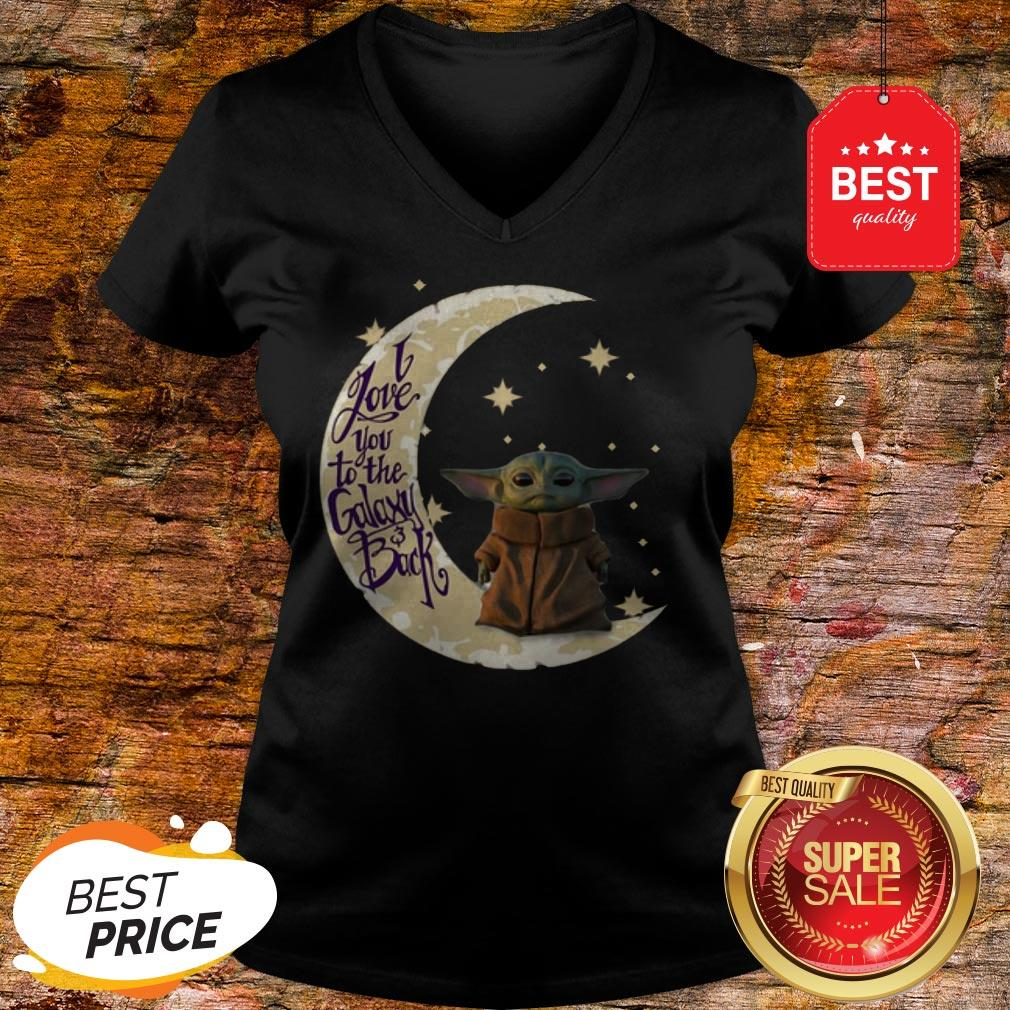 Baby Yoda Moon I Love You To The Galaxy And Back Star Wars V-Neck