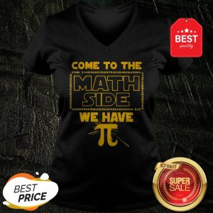 Official Come To The Math Side We Have Pi Star Wars V-Neck