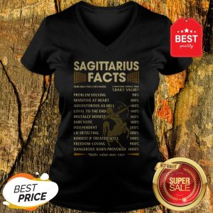 Official Sagittarius Facts Serving Per Container Daily Value V-Neck