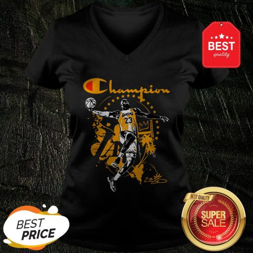Champion LeBron James Signature Los Angeles Lakers V-Neck