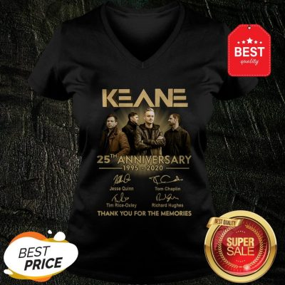 Keane 25th Anniversary 1995-2020 Signatures Thank You For The Memories V-Neck