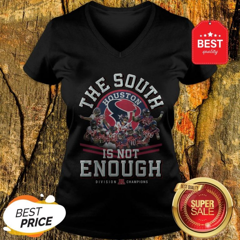 Houston Texas The South Is Not Enough Division Champions Signature V-Neck