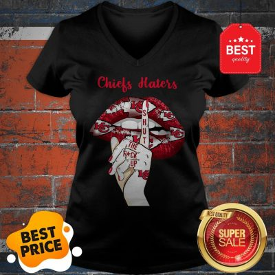 Official Lips Kansas City Chiefs Haters Shut The Fuck Up V-Neck