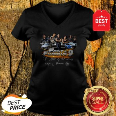 Official All character Fast And Furious 9 Signatures V-Neck