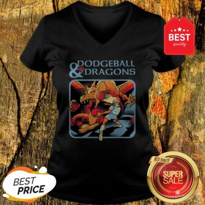 Official Dodgeball And Dragons Dungeons And Dragons V-Neck