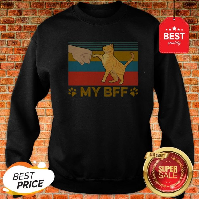 Official My BFF Paw Cat Vintage Sweatshirt