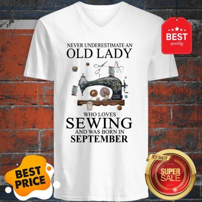 Never Underestimate Woman Who Loves Sewing And Was Born In July V-Neck