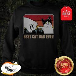 Official Best Cat Dad Ever Sunset Vintage Sweatshirt