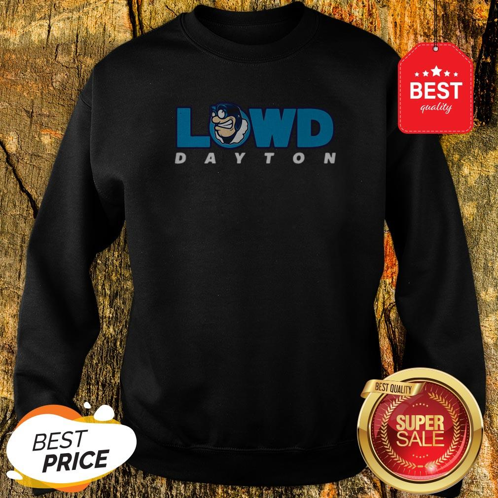 Official Lowd Dayton Flyers Basketbal Sweatshirt