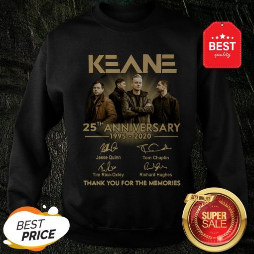 Keane 25th Anniversary 1995-2020 Signatures Thank You For The Memories Sweatshirt