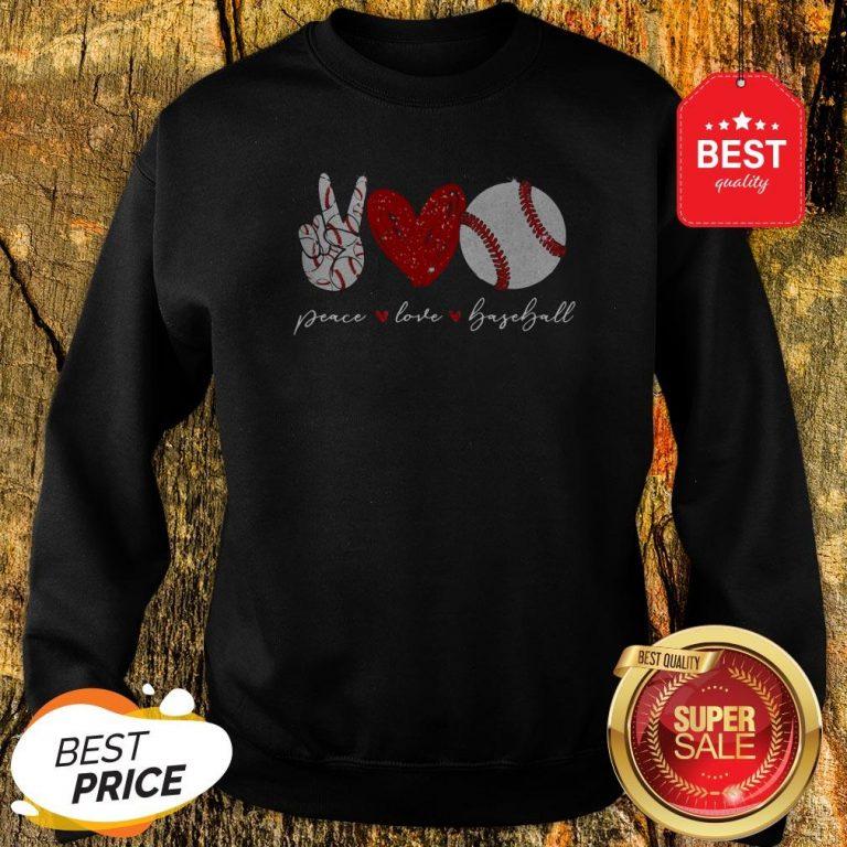 Official Diamond Peace Love Baseball Sweatshirt
