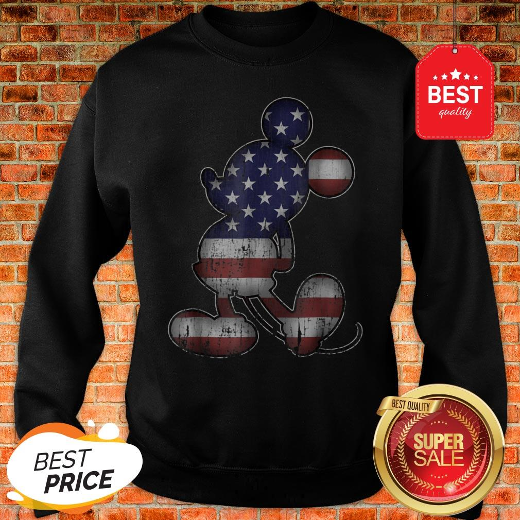 Official Disney Americana 4th Of July Mickey Mouse Sweatshirt