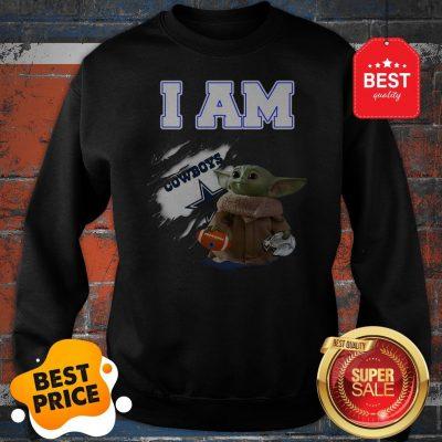 Official Baby Yoda I am Dallas Cowboys Inside Me Sweatshirt