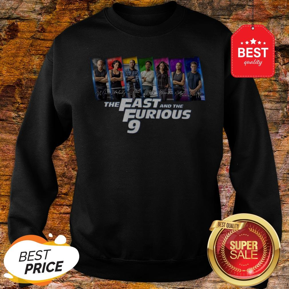 Official All Character Signatures The Fast And The Furious 9 Sweatshirt