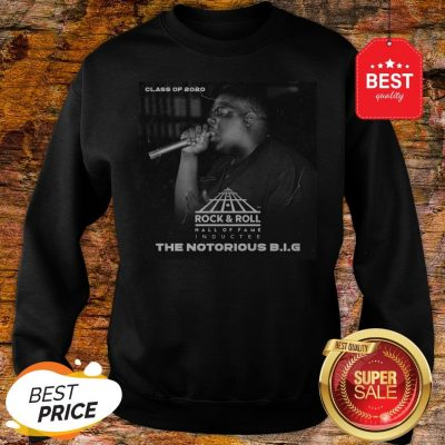 Official Class Of 2020 Rock & Roll Hall Of Fame The Notorious B.I.G Sweatshirt